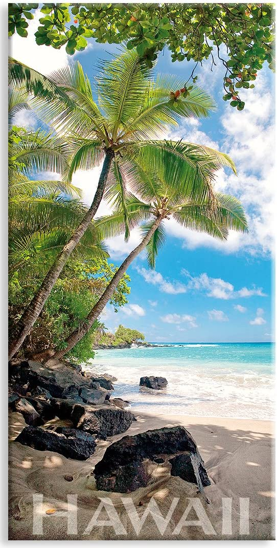 Panoramic Hawaiian Art Collectible Refrigerator Magnet - Hamoa Beach by Michael & Monica Sweet
