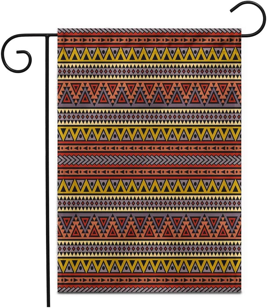 "Adowyee 12""x 18"" Garden Flag Mexican Boho Aztec Abstract Folklore Motives and Summer Pattern Outdoor Double Sided Decorative House Yard Flags"