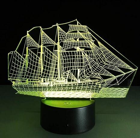 Amazon.com : QiXian Night Light Wall Lamp Led Lamp Sailing ...