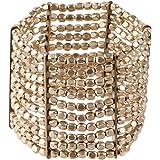 81stgeneration Bracelet ton argent laiton petite perle stretch réglable 10 Ligne