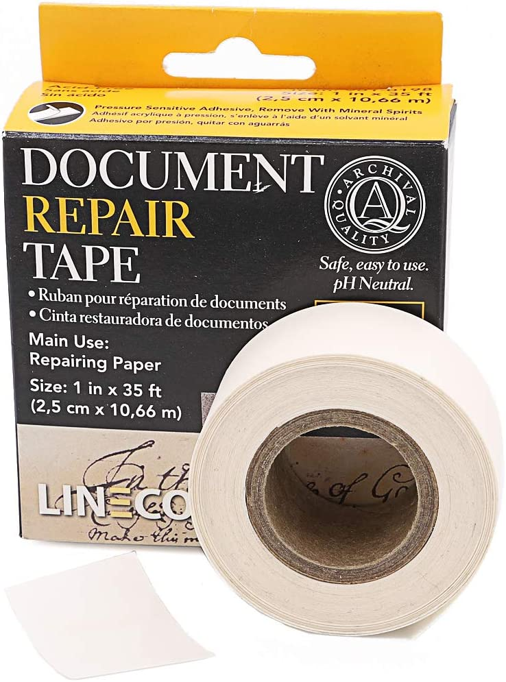 "9010198 Self-Adhesive Document Repair Tape-Transparent 1/""X35/'"