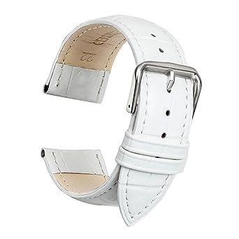 tout neuf af617 d1038 Ullchro Bracelet Montre Remplacer Top Cuir Véritable Bracelet de Montre  Couture - 12, 14, 16, 18, 19, 20, 21, 22, 24 mm Bracelet Montre Remplacer  avec ...