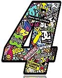 Biomar Labs® Número 4 DC Bomb Calavera Vinilo Adhesivo Pegatina Coche Auto Motocross Moto Sport Start Racing Tuning N 204