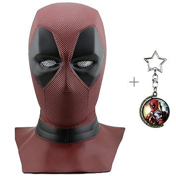 Máscara de máscara Deadpool de Yacn Marvel y traje de Deadpool ... 022d3dda82fa