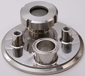 Tri Clamp 1.5 inch x Manifold FNPT 1//4 in 4 - Stainless Steel SS304 Glacier Tanks