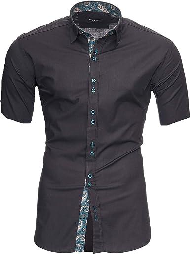 Kayhan Florida Royal - Camisa de manga corta para hombre, talla S-6XL: Amazon.es: Ropa y accesorios