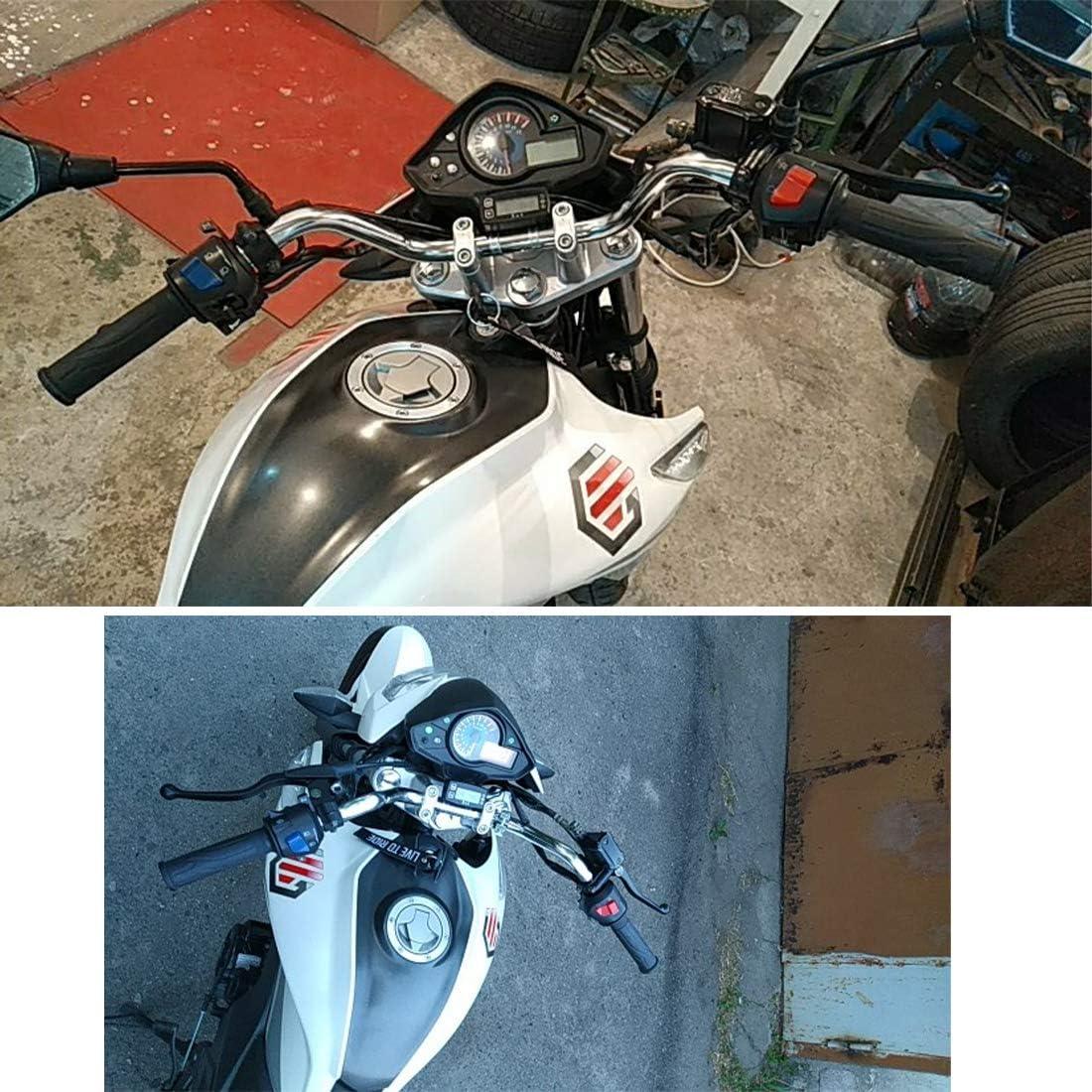 Motorradlenker 7//8 22mm Retro Lenker Silber