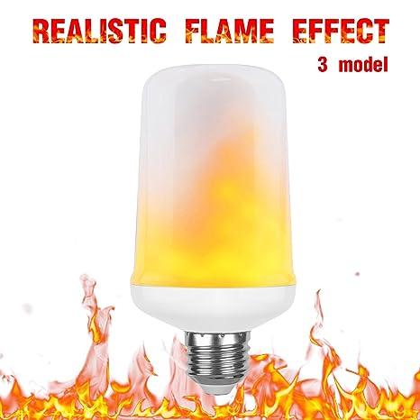 Gezee - Bombillas LED de efecto llama con 3 modos, casquillo E27 1300 K,
