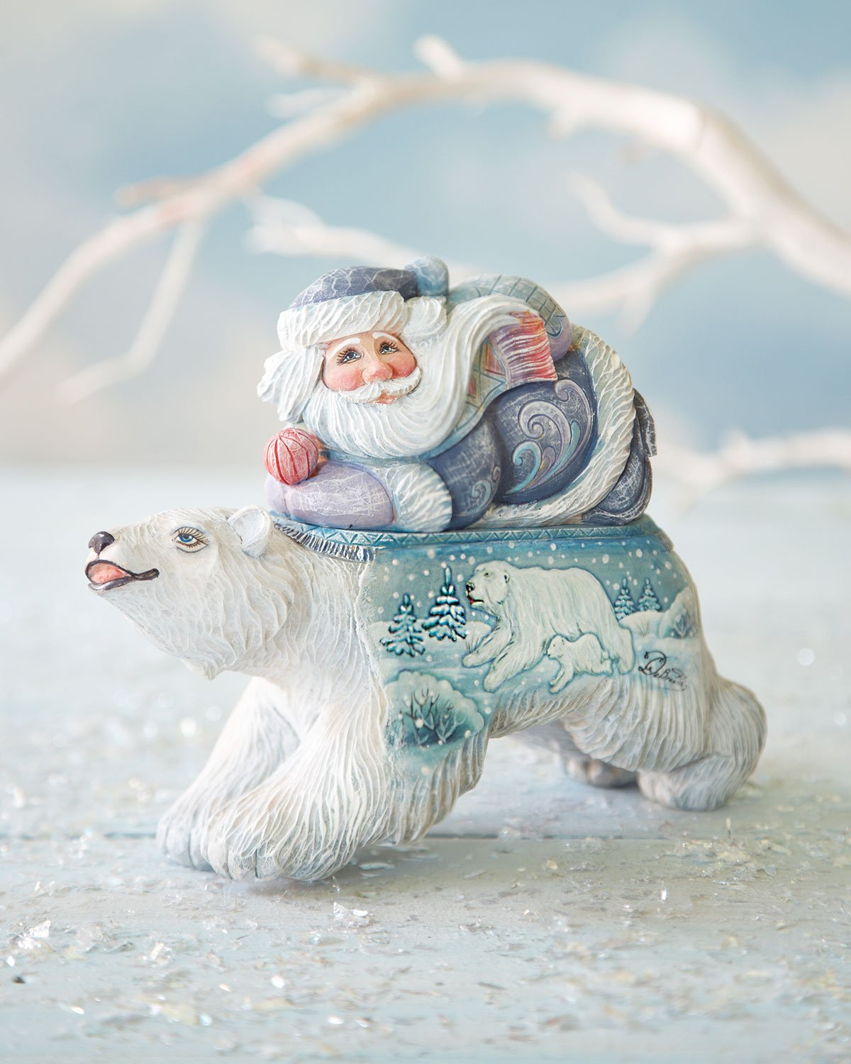G. Debrekht Polar Surprise Santa Box , 6''