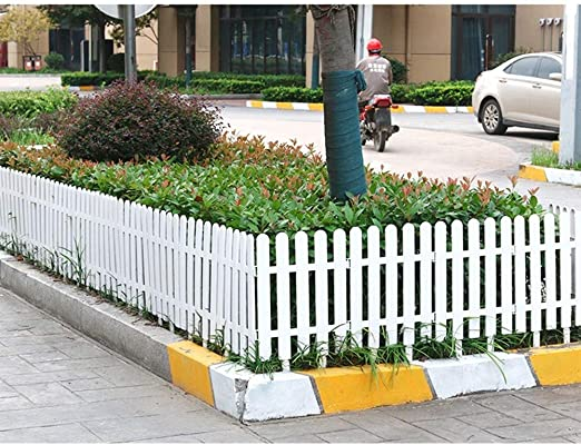 ZHANWEI Valla de jardín Bordura de jardín Interior Al Aire Libre PVC El Plastico Césped Protector Guardia Carril - Blanco 4 Tamaños (Color : 50x32cm, Size : 5 PCS): Amazon.es: Jardín
