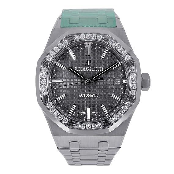 Audemars Piguet AP Royal Roble 37 mm gris Dial diamante bisel 15451ST. ZZ. 1256ST. 02: Audemars Piguet: Amazon.es: Relojes