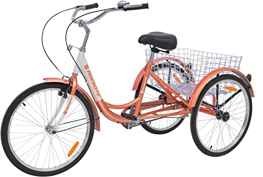 MOPHOTO Triciclo para Adultos 1/7 Velocidad Tres Ruedas Bicicletas ...