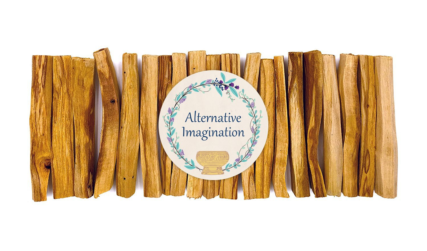 Alternative Imagination Premium Palo Santo Holy Wood Incense Sticks Purifying, Cleansing, Healing, Meditating, Stress Relief. 100% Natural Sustainable, Wild Harvested. (20)