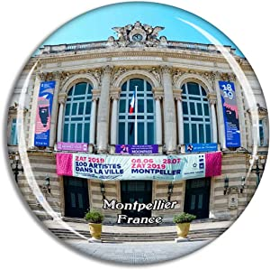 Montpellier France Place de la Comedie Fridge Magnet Travel Gift Souvenir Collection 3D Crystal Glass Sticker