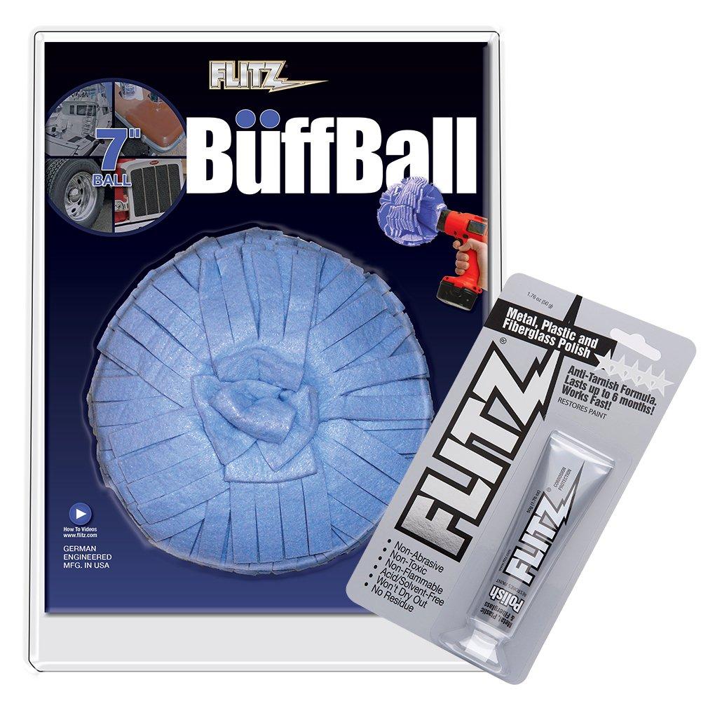 Flitz WB201-50 X-Large Buff Ball, 24. Fluid_Ounces