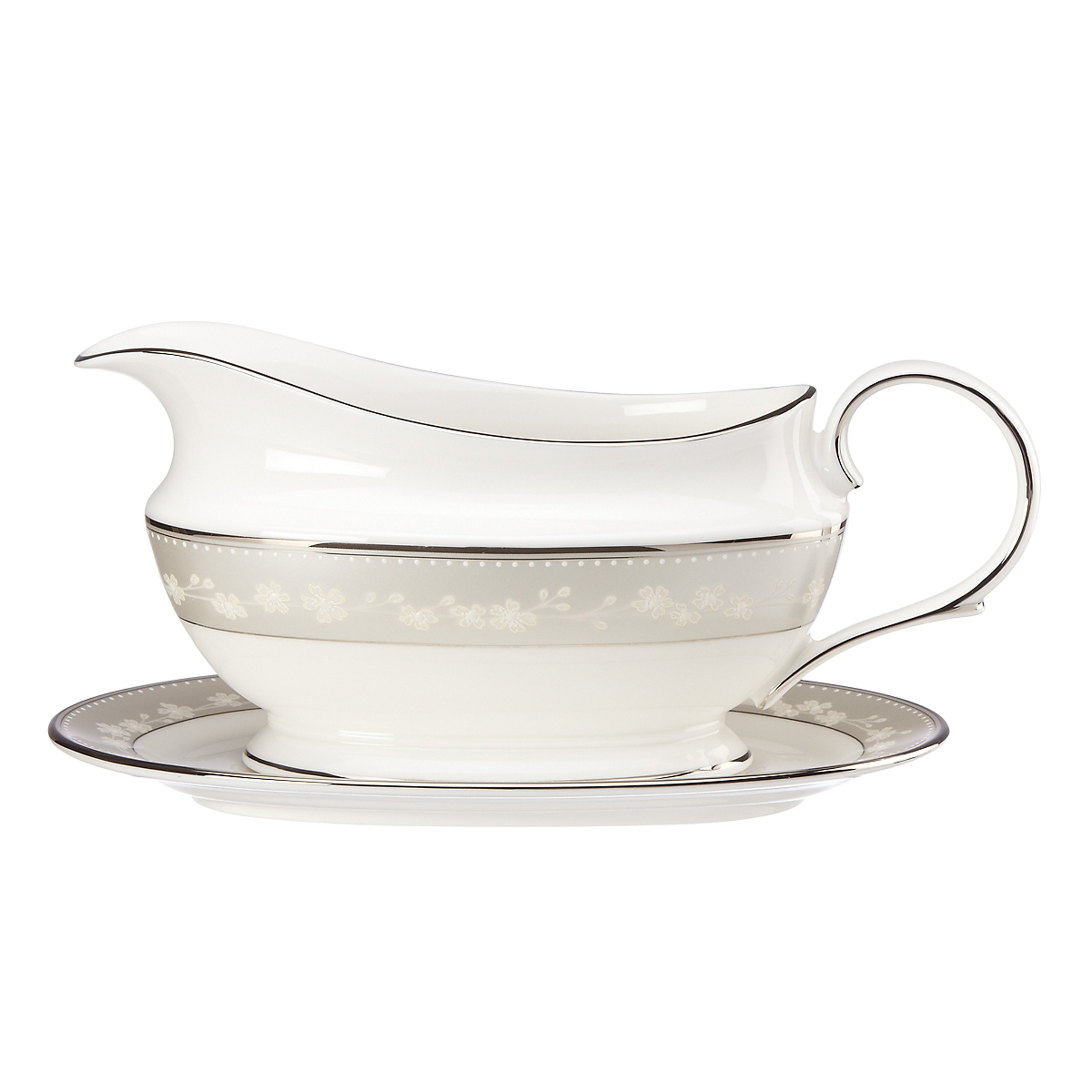 Lenox Bellina Sauce Boat and Stand, White