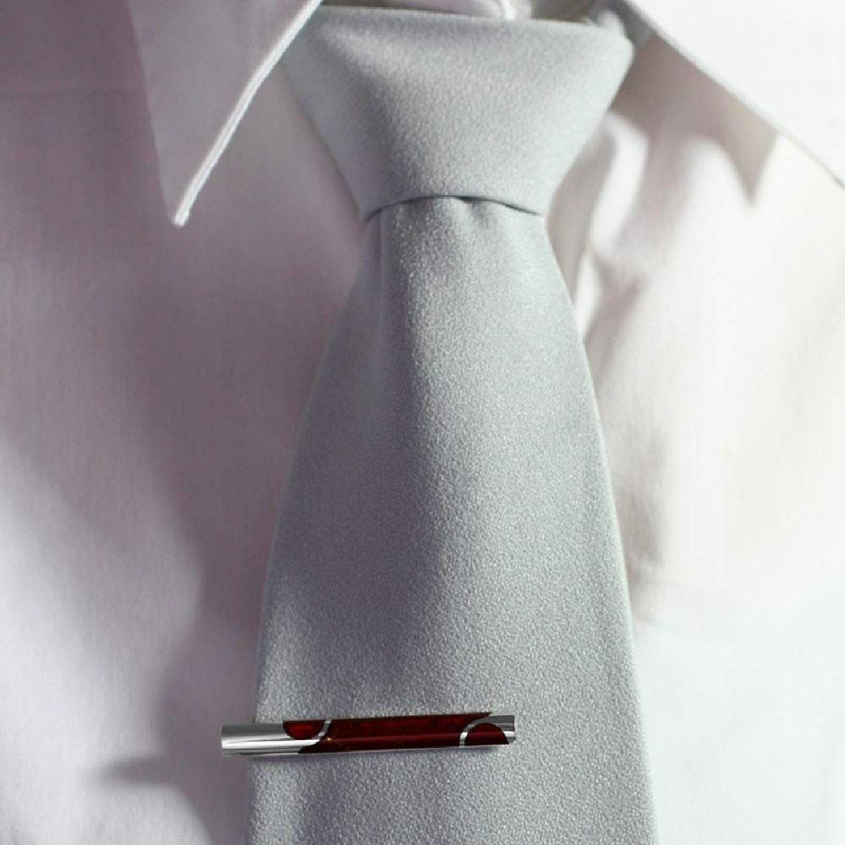 InCollections Herren-Krawattennadel 925//000 Sterlingsilber mit Bernstein 0110247025340