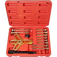 Universal Harmonic Balancer, Pulley, Damper and Gear Puller Tool Set, 13 Pieces, with Carrying Case T1A-D1007