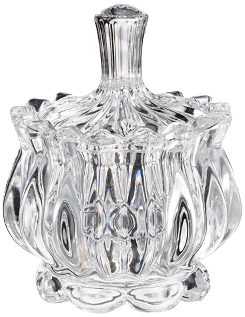 The Jay Companies 303084-GB Genevieve Candy Jar with Lid, Clear