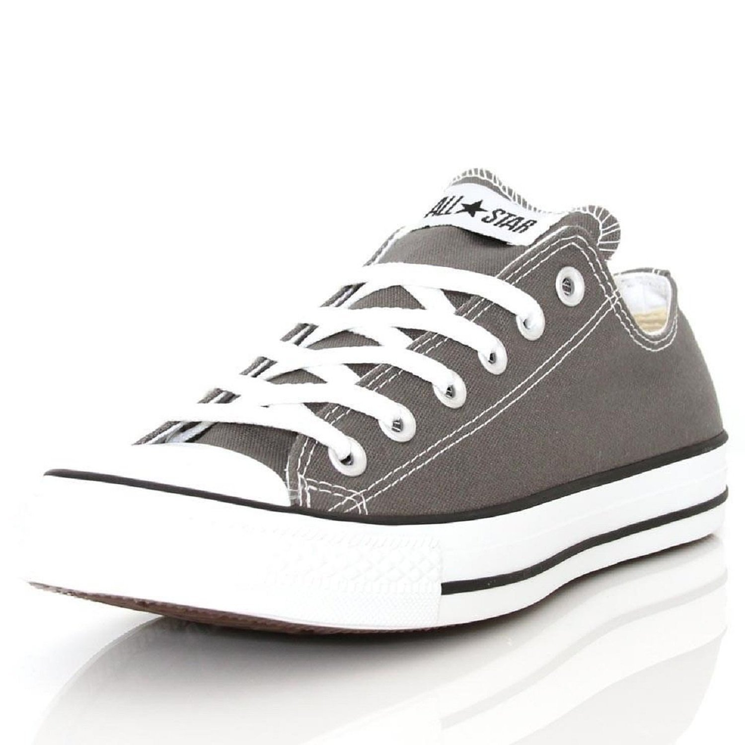 Converse Unisex-Erwachsene CTAS Seasonal-OX-White Monochrome Sneaker  6 B(M) US Women / 4 D(M) US Men|Charcoal