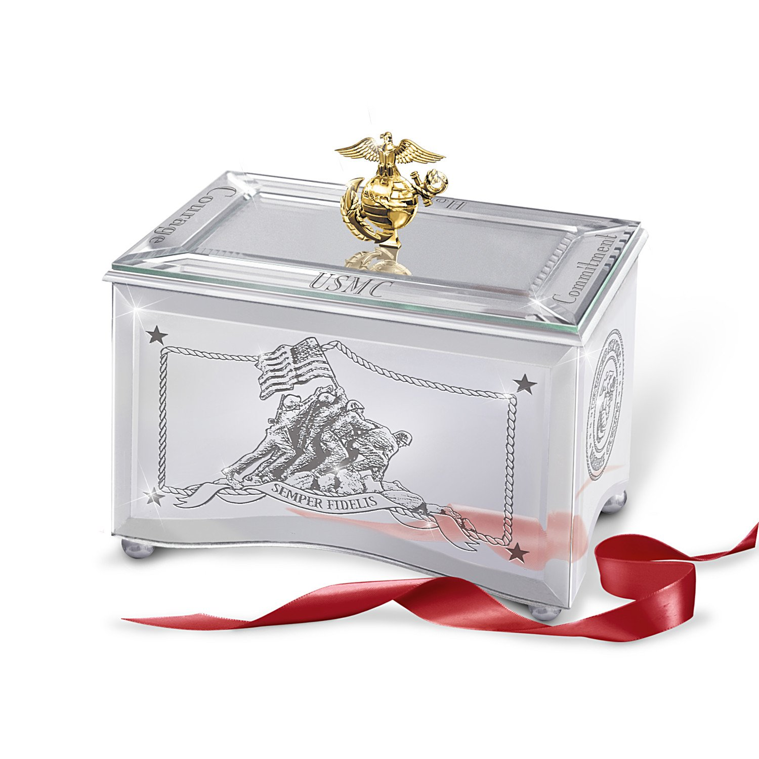 Amazon.com: USMC Music Box: Reflections Of A Hero by The Bradford ...