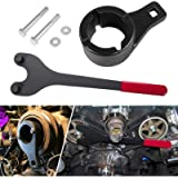 Harmonic Damper Pulley Holding Tool Crank Removal Wrench Tool & Crankshaft Pulley Holder for Lexus Toyota Nissan etc.