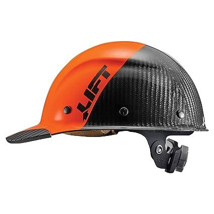 Lift Safety DAX Carbon Fiber Cap Brim 50-50 (Orange/Black