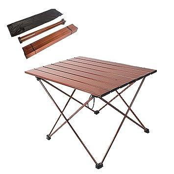 ANPI Mesa Plegable de Aluminio para Camping, Mesa Portátil ...
