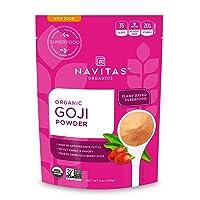 Navitas Organics Goji Powder, 4oz. Bag, 12 Servings — Organic, Non-GMO, Sun-Dried, Sulfite-Free