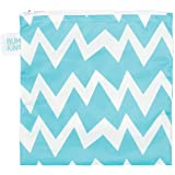 Bumkins Reusable Snack Bag Large, Blue Chevron