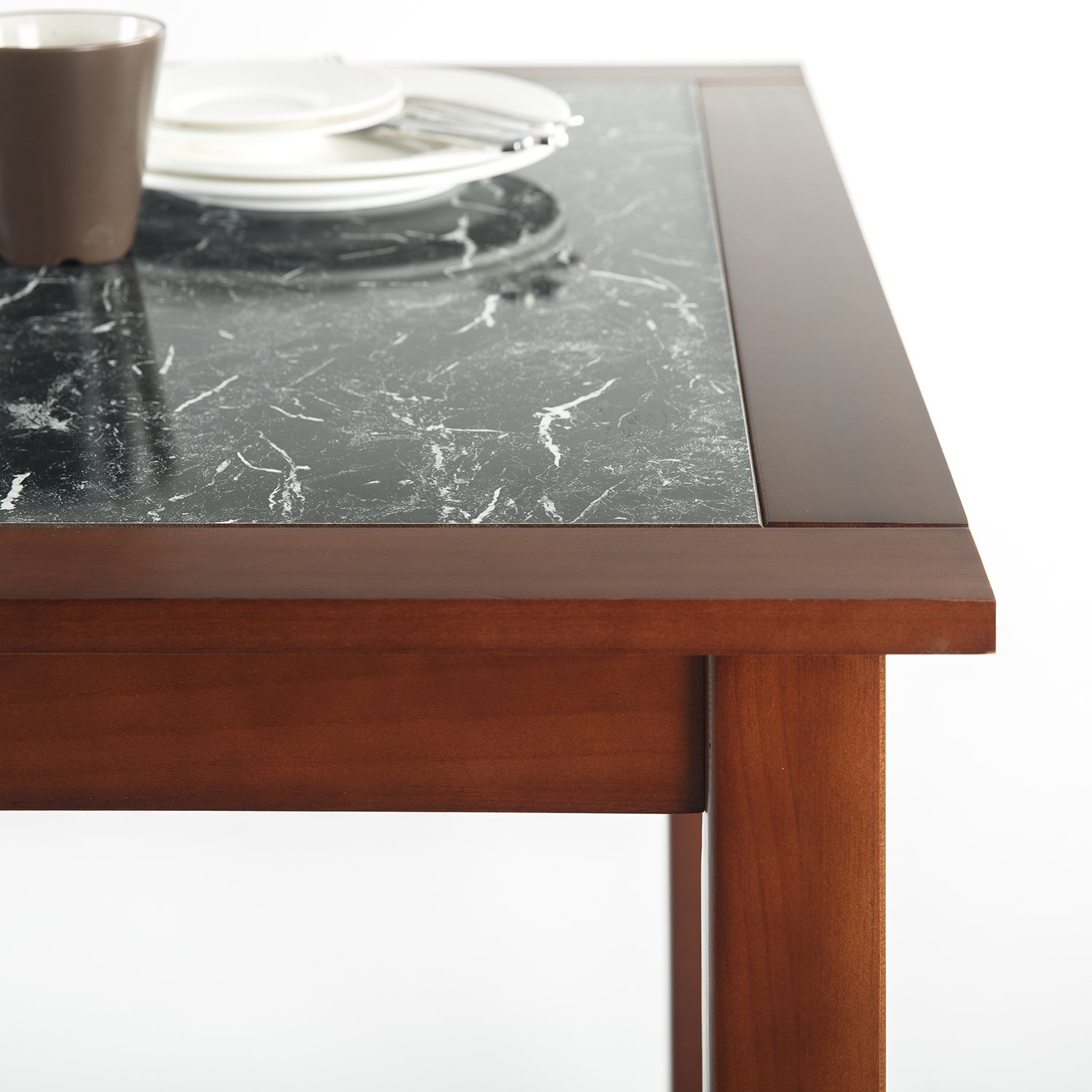 Zinus Faux Marble and Wood Dining Table / Table Only by Zinus