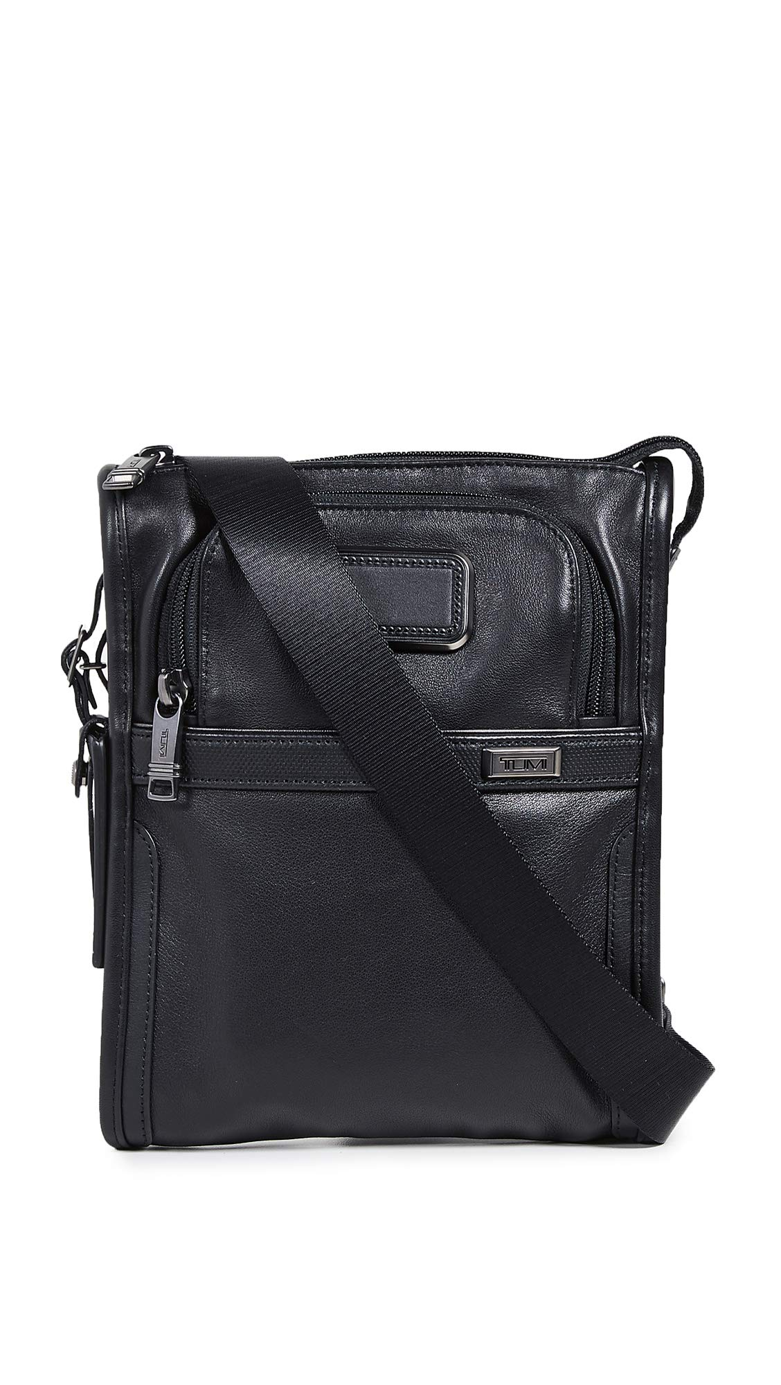 Tumi Men's Alpha Small Pocket Bag, Black, One Size