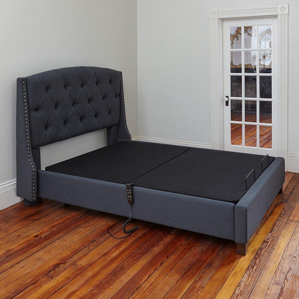 Classic Brands Adjustable Comfort Affordamatic Upholstered Adjustable Bed Base/Foundation, Queen