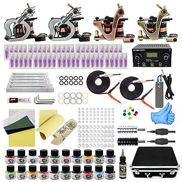 Schönheit & Gesundheit Professionelle Tattoo Tool Kit Liner Shader Nadel Kit Tattoo Maschine Zubehör Set