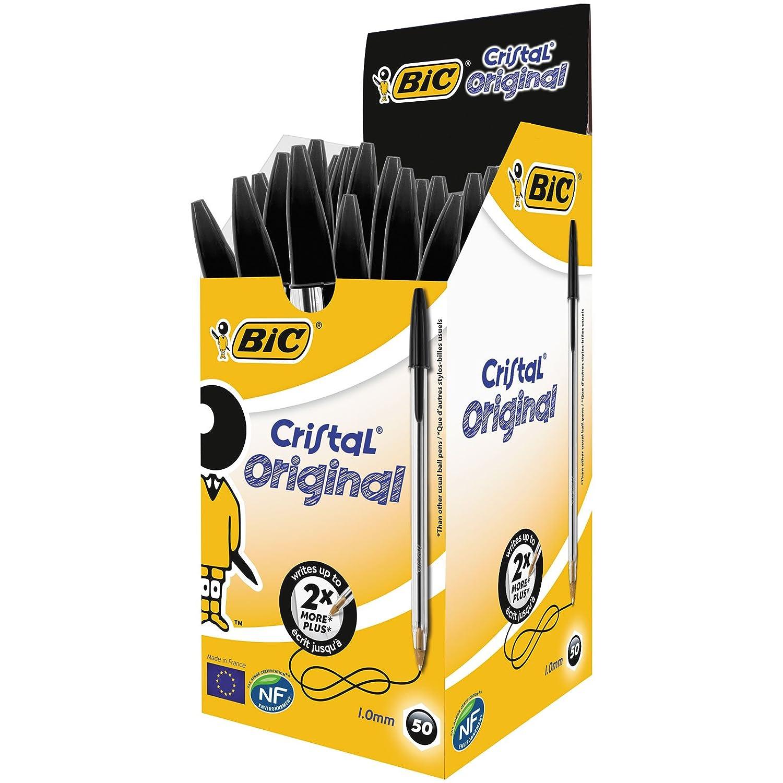 Bic Cristal Original Punta Media 1 mm Confezione 50 Penne Colore Blu 8373601 8373609 Penneasfera