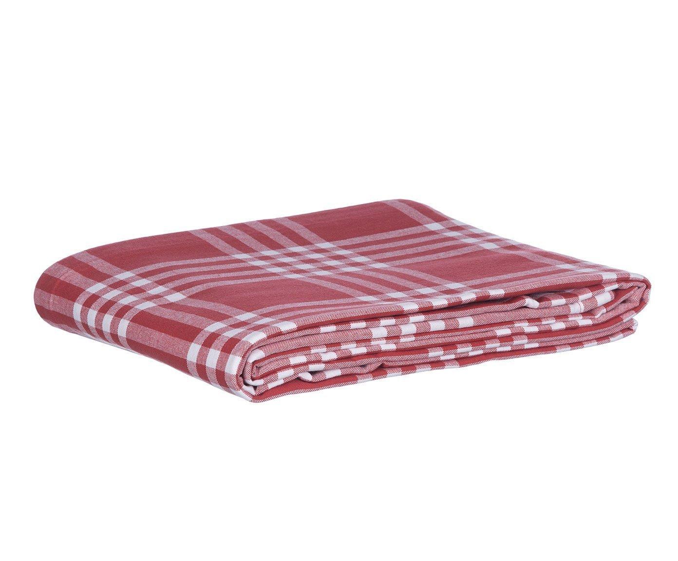 LEXINGTON 20201518001 Tischdecke, Baumwolle, Rot und Weiß, 150 x 250 x 1 cm