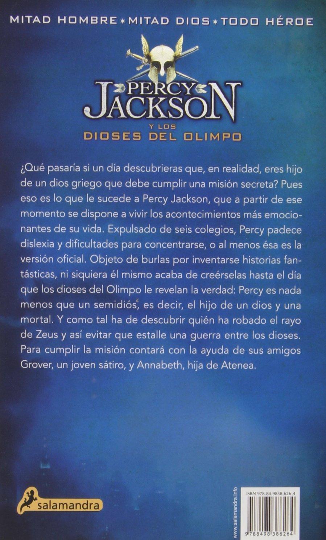 EL LADRON DEL RAYO -Rtca. Nva. Portada- S Percy I ,: Percy Jackson y los  Dioses del Olimpo I Narrativa Joven: Amazon.es: Rick Riordan, Libertad  Aguilera ...