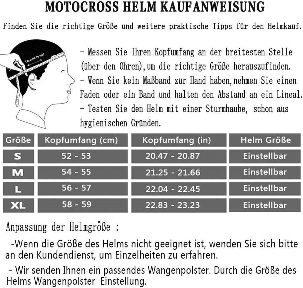 AKBOY Bicyclette VTT Casque Casques Motocross Casque Complet pour Hommes Noir Vert Casque de Moto Cross Adulte Moto Enduro Course sur Route Casque avec Goggle Gants Masque pour Enfants M/âle