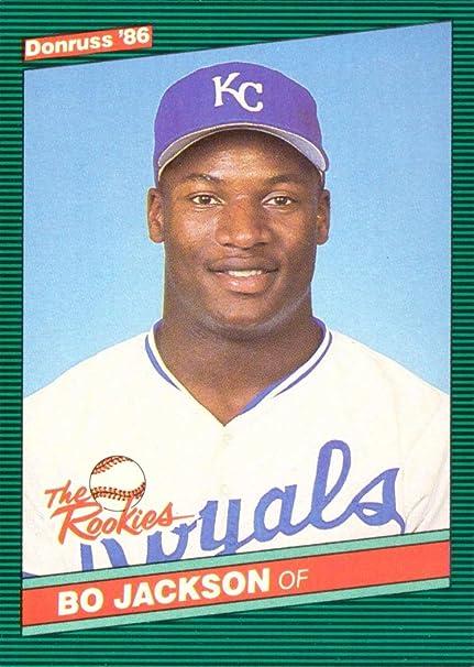 Amazoncom 1986 Donruss The Rookies Baseball 38 Bo Jackson