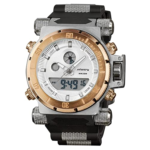 INFANTRY Mens 50mm Heavy Duty Tactical Watch