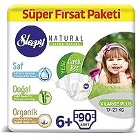 Sleepy Natural Bebek Bezi 6+ Numara Xlarge Plus Süper Fırsat Paketi 90 Adet
