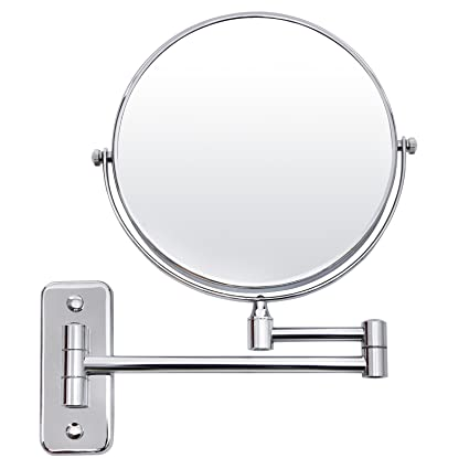 bathroom magnifying mirror. SONGMICS 7x Magnifying Wall Mount Makeup Mirror 8-Inch Two-Sided Extendable Bathroom Vanity M