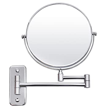 Amazon.com - SONGMICS 7x Magnifying Wall Mount Makeup Mirror 8-Inch on