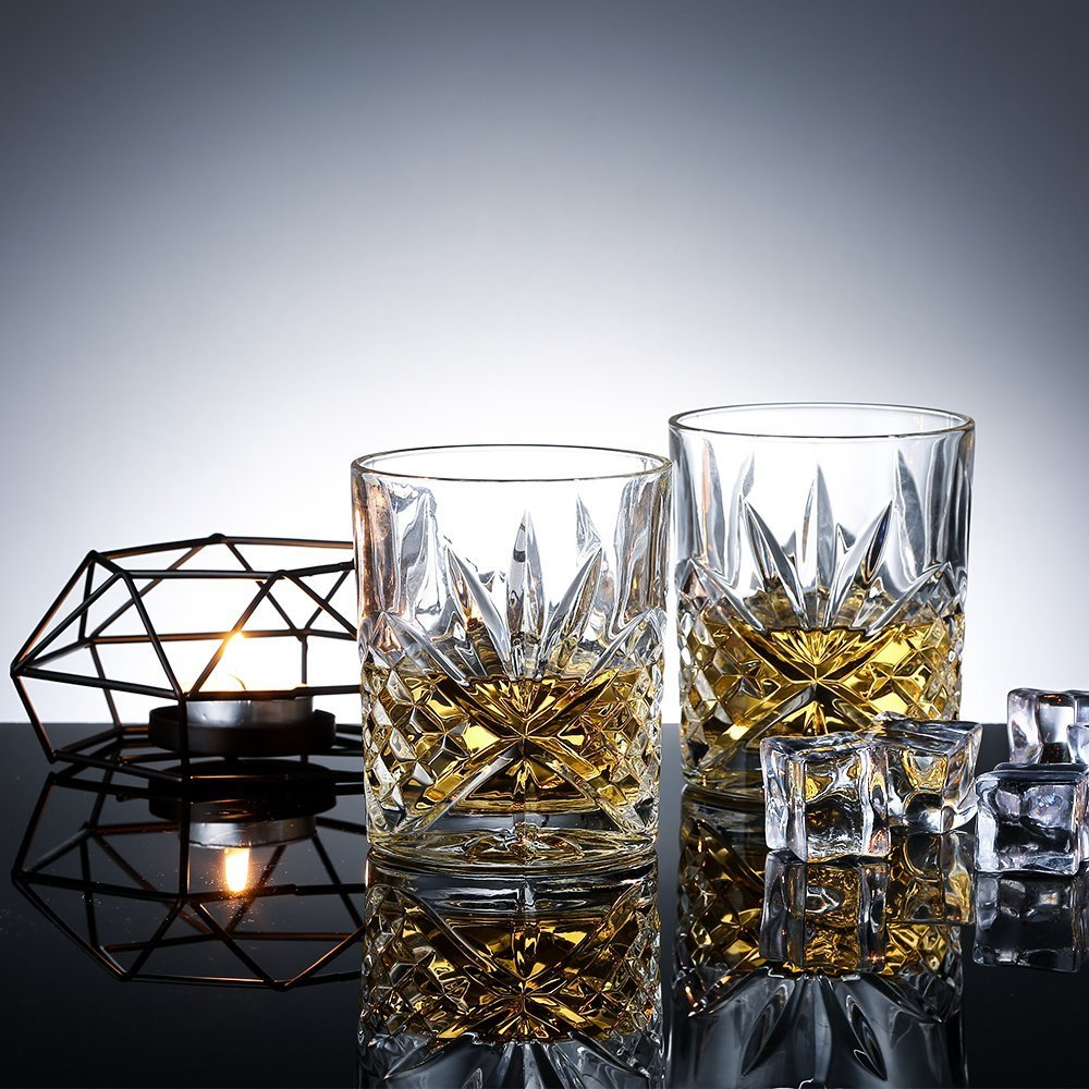 James Scott Double Old Fashioned Crystal Drinking Glasses Set, Irish Cut Design - Set of 4 - 8 Oz by James Scott (Image #7)