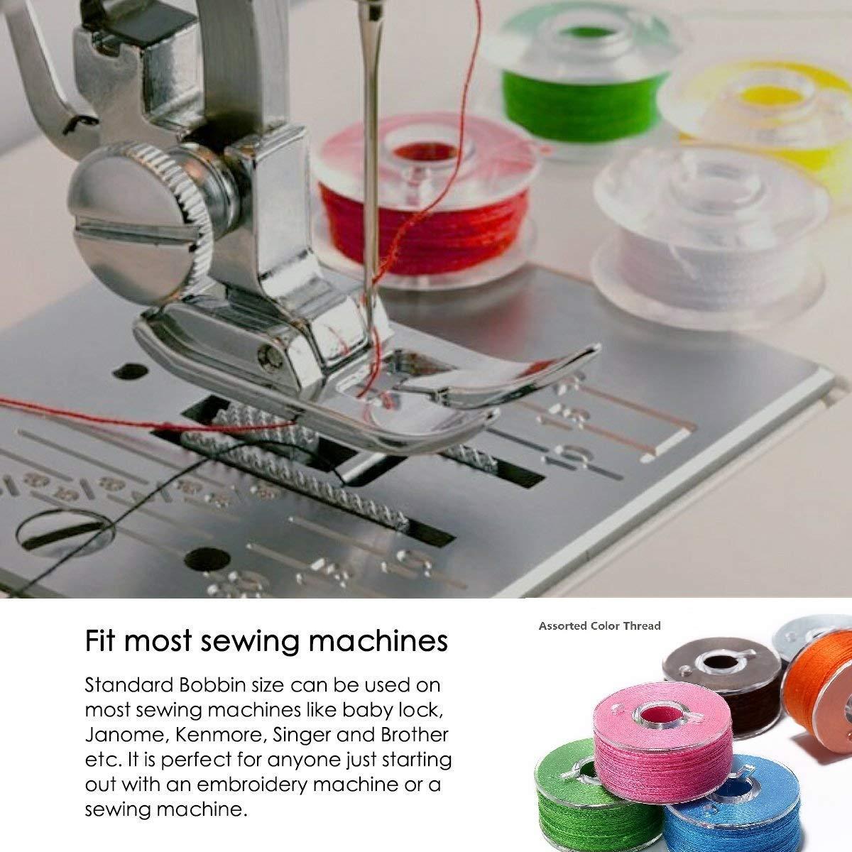 36 piezas de hilo de bobina de la máquina de coser con estuche para Brother / Babylock / Janome / Elna / Singer, colores surtidos: Amazon.es: Hogar