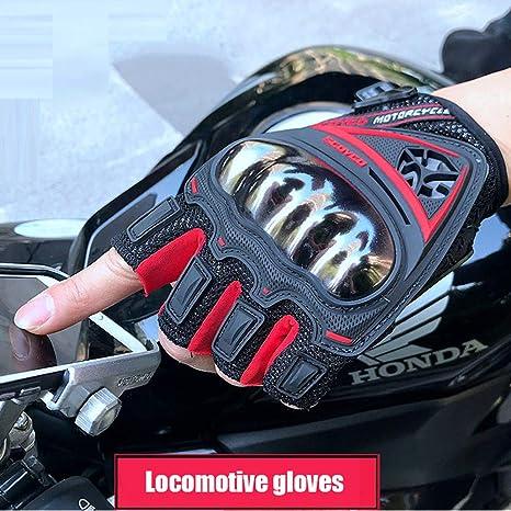 Amazon.com: SCOYCO Guantes de piel para motocicleta, sin ...