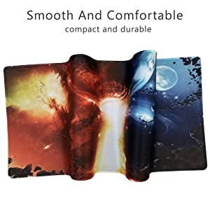 Cmhoo XXL Professional Large Mouse Pad & Computer Game Mouse Mat (35.4x15.7x0.1IN, 90x40 fireball007) (Color: 90x40 Fireball007, Tamaño: 35.4x15.7x0.1IN)