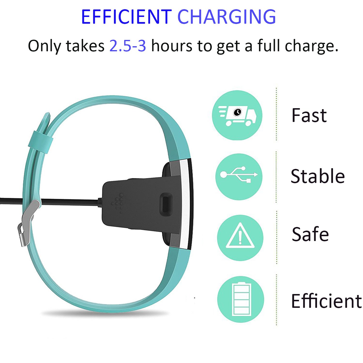 Amazon.com: Charger for Fitbit Charge 2 , 21 inch Replacement USB ...