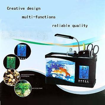 TKSTAR-tanque de peces multifuncional, USB de escritorio, acuario, mini pecera con agua corriente, ...
