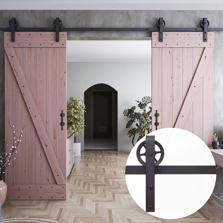 Amazon Homacer Sliding Barn Door Hardware Standard Double Door